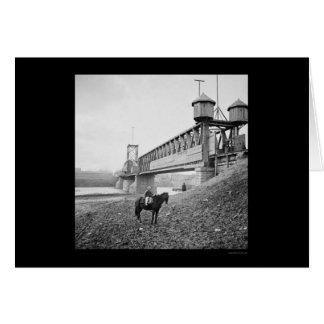 Cartes Pont enrichi en chemin de fer à Nashville, TN 1864