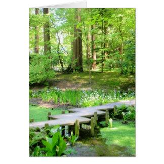 Cartes Pont japonais dans les jardins de Nitobe