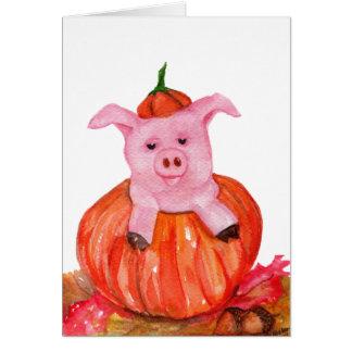 Cartes Porc en citrouille
