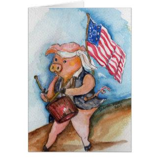 Cartes Porc patriotique