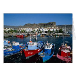 Cartes Port de pêche, Puerto de Mogan, mamie Canaria,