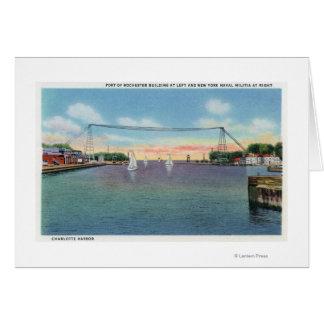 Cartes Port de Rochester et milice navale de NY