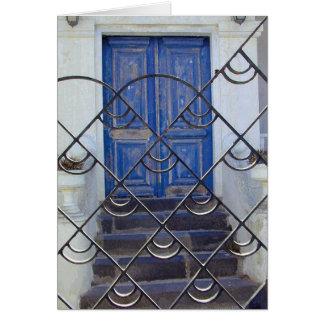 Cartes Porte bleue fraîche