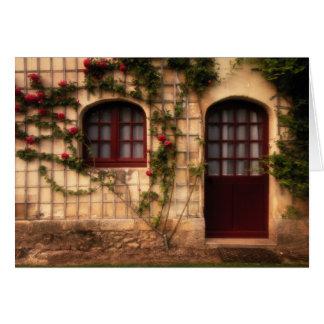 Cartes Porte de cottage rose