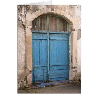 Cartes Porte de grange bleue