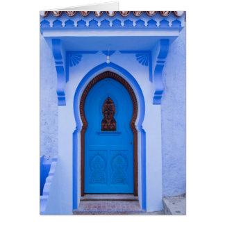 Cartes Porte marocaine bleue