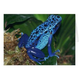 Cartes Portrait bleu de grenouille de flèche de poison
