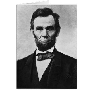 Cartes Portrait d'Abraham Lincoln par Alexandre Gardner