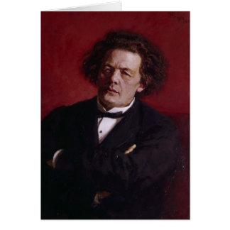 Cartes Portrait d'Anton Grigoryevich Rubinstein, 1881