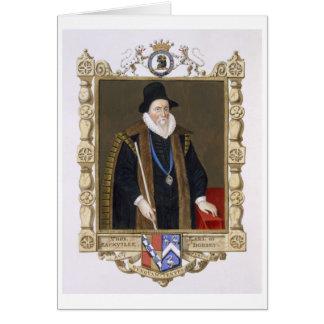 Cartes Portrait de 1536-1608) ęrs barons de Thomas