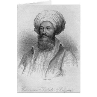 Cartes Portrait de Giovanni Batista Belzoni