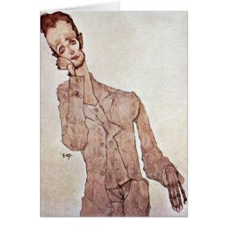 Cartes Portrait de Karl Zakovsek par Egon Schiele