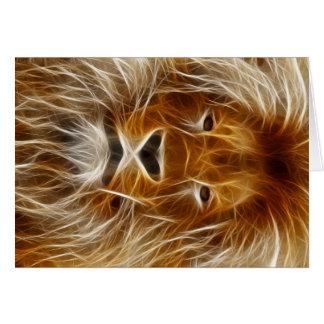 Cartes Portrait de lion