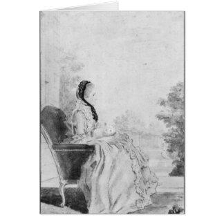 Cartes Portrait de Madame du Deffand, 1760