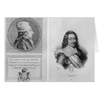 Cartes Portrait de Marie Francois Gontier de Biran