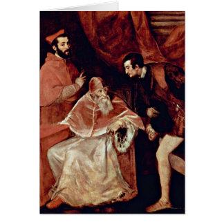 Cartes Portrait de pape Paul III par Titian