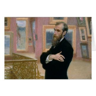 Cartes Portrait de Pavel Tretyakov dans la galerie