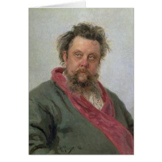 Cartes Portrait de Petrovich modeste Moussorgsky 1881