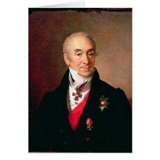 Cartes Portrait de S. Kushnikov, 1828