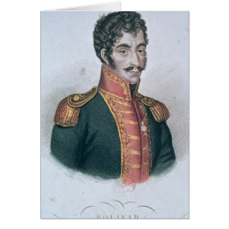 Cartes Portrait de Simon Bolivar