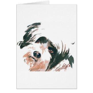 Cartes Portrait de Terrier tibétain