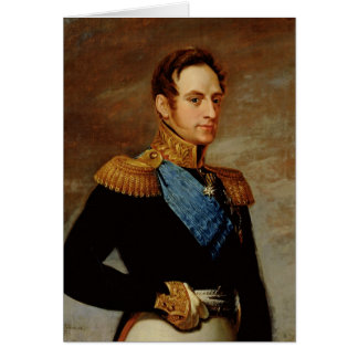 Cartes Portrait de tsar Nicholas I 1826