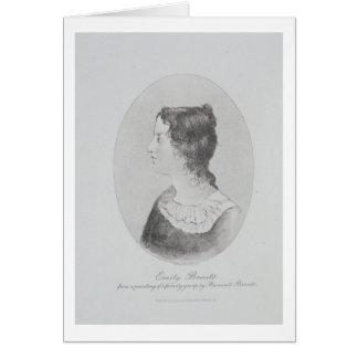 Cartes Portrait d'Emily Bronte (1818-48) gravé par Wal