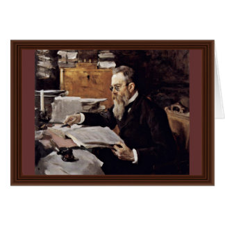 Cartes Portrait du compositeur Nikolai Andreyevich