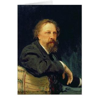 Cartes Portrait du compte Alexey K. Tolstoy d'auteur