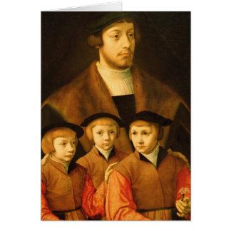 Cartes Portrait d'un homme et de ses trois fils