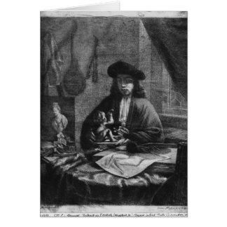 Cartes Portrait d'un jeune artiste, gravé par