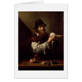 Cartes Portrait d'un vieil homme à un oignon (huile sur