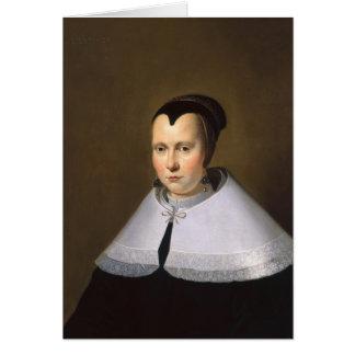 Cartes Portrait d'une femme (huile sur le panneau