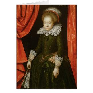 Cartes Portrait d'une fille de la famille de Ligne