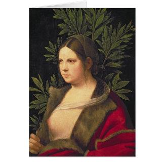 Cartes Portrait d'une jeune femme, 1506