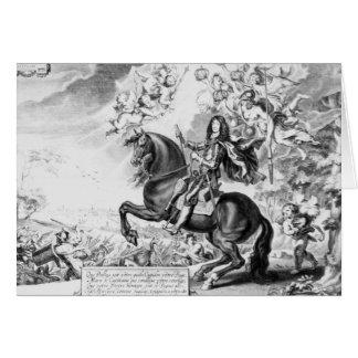 Cartes Portrait équestre de Charles II avec des dieux