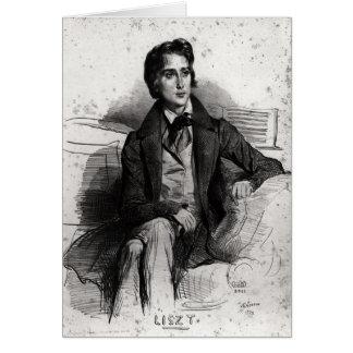 Cartes Portrait Franz Liszt en août 1832