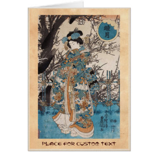 Cartes Portrait japonais de geisha d'ukiyo-e vintage