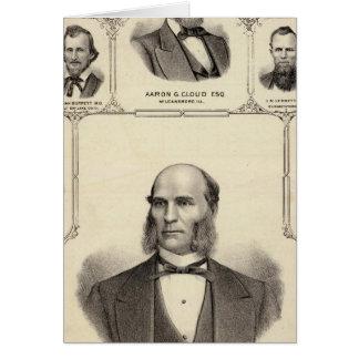 Cartes Portraits de chasseur de Robert, nuage d'Aaron G