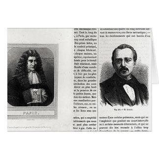 Cartes Portraits de Denis Papin et d'Etienne Lenoir