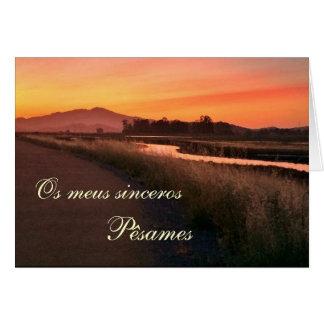 Cartes Portugais : Le por de paisagem de Pesames e font