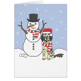 Cartes Poseur anglais et bonhomme de neige
