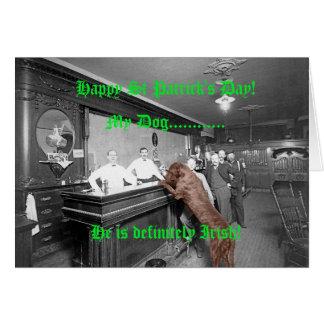 Cartes Poseur irlandais de la barre de chien de Jour de