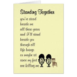 Cartes Position ensemble - d'un poème drôle au sujet de
