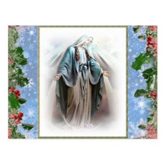 Cartes postales bénies de Noël de Vierge Marie