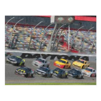 Cartes postales courantes de courses d'automobiles