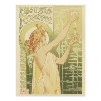 Cartes postales d'absinthe