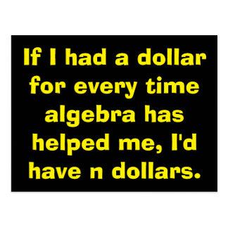 Cartes postales d'algèbre de maths