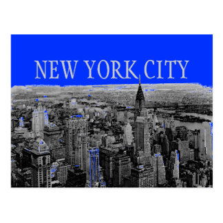 Cartes postales d'art de bruit de New York City de