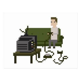 Cartes postales d'art de pixel de Gamer